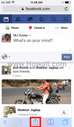 Facebook Desktop Version on iPhone Android