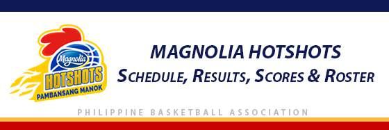 PBA: Magnolia Hotshots Schedule, Results, Scores, Roster