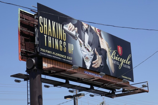 Bicycle Hotel Casino Shaking things up billboard
