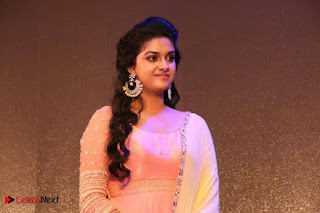 Actress Keerthy Suresh Pictures in Salwar Kameez at Remo First Look and le Track Launch  0010.jpg