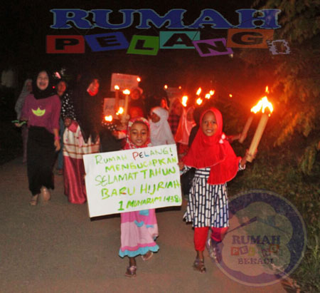 Pawai Obor 1 Muharram 1348H Rumah Pelangi Bekasi