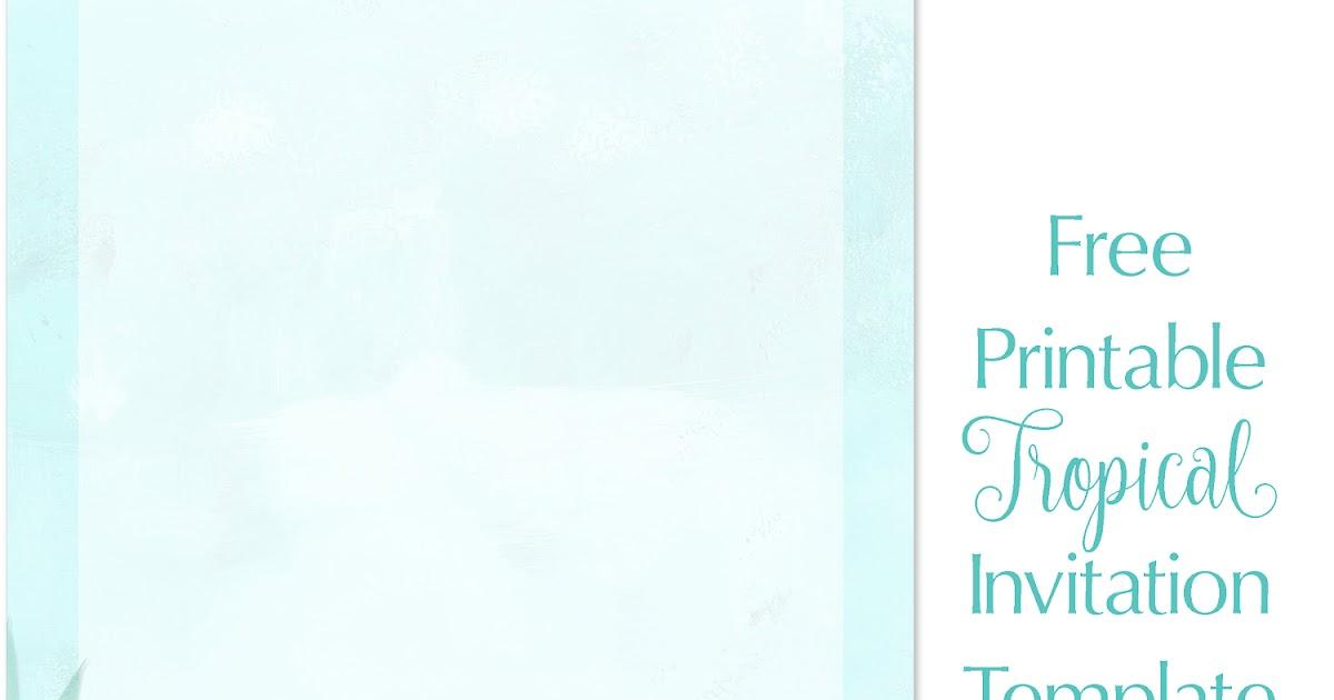 Printable Beach Wedding Invitations: Printable Tropical Beach Theme Wedding Invitation Template