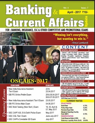 Banking Current Affairs April 2017.