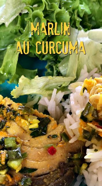 sweet kwisine, cuisine antillaise, cuisine créole, curcuma, turmeric, marlin, sword fish
