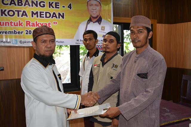Tanpa Gejolak, PKS Lantik 21 BPH DPC Se-Kota Medan