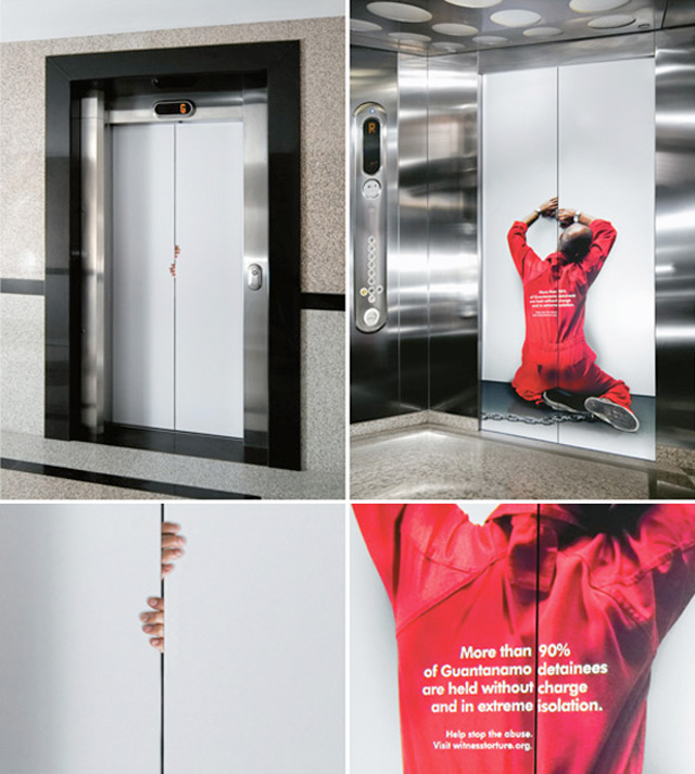 Stop abuse Top 27 Creative Elevator Advertisements
