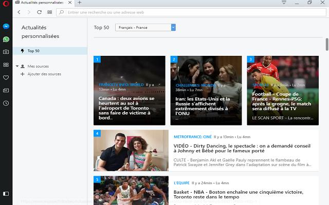 تحميل متصفح الأنترنت Opera Browser 50.0.2762.45  آخر إصدار