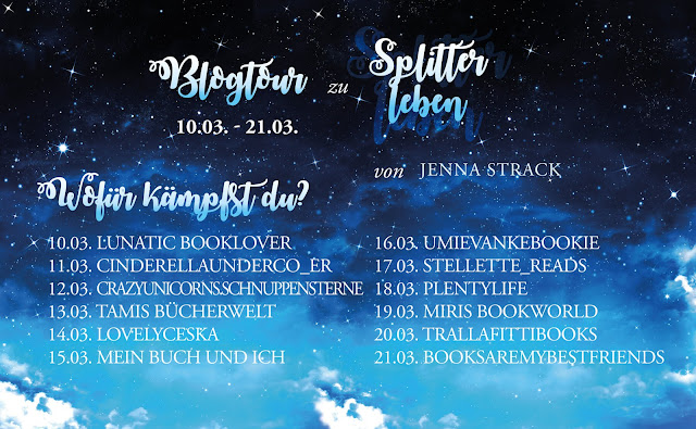 Blogtour Jenna Strack Splitterleben Gewinnspiel