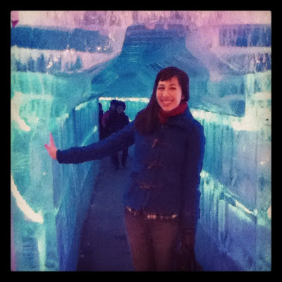 In an ice tunnel at The Hwacheon Ice Festival in Korea | Lindsay Eryn