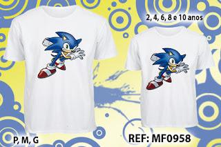 Tal Pai Tal Filho Camisetas Personalizadas SOnic