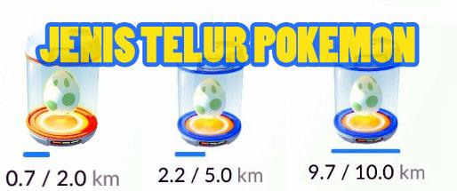 jenis telur pokemon go