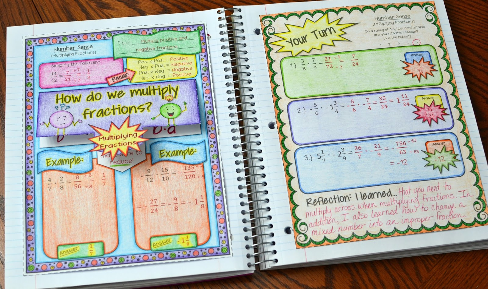 GIVEAWAY - 7th Grade Math Interactive Notebook