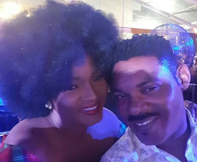 omotola jalade husband total nigeria end of the year party