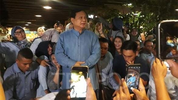 Prabowo: Indonesia Tumbuh Cepat di Masa SBY, Jokowi Ugal-ugalan
