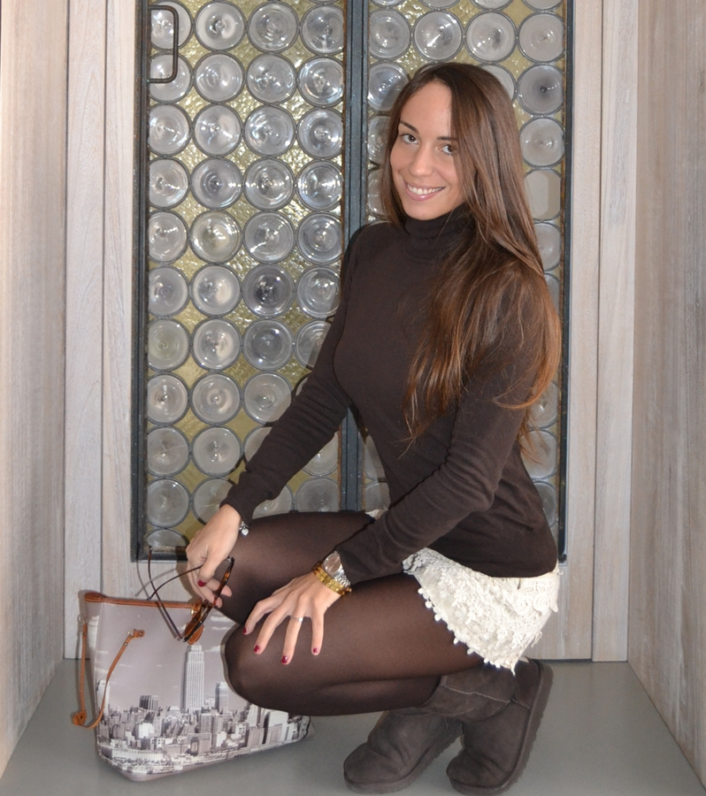 Crochet shorts (winter version) Nameless fashion blog