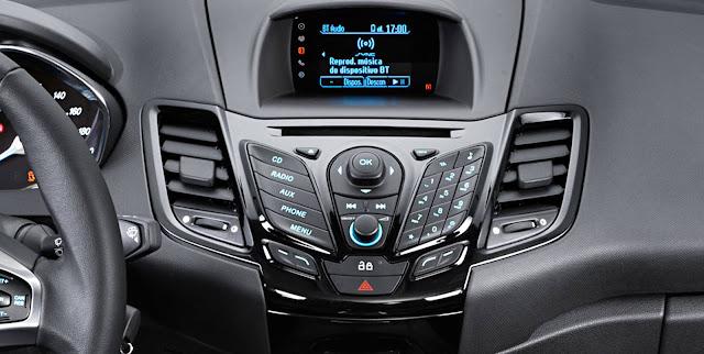 New Fiesta 2017 Titanium EcoBoost - interior - sistema SYNC