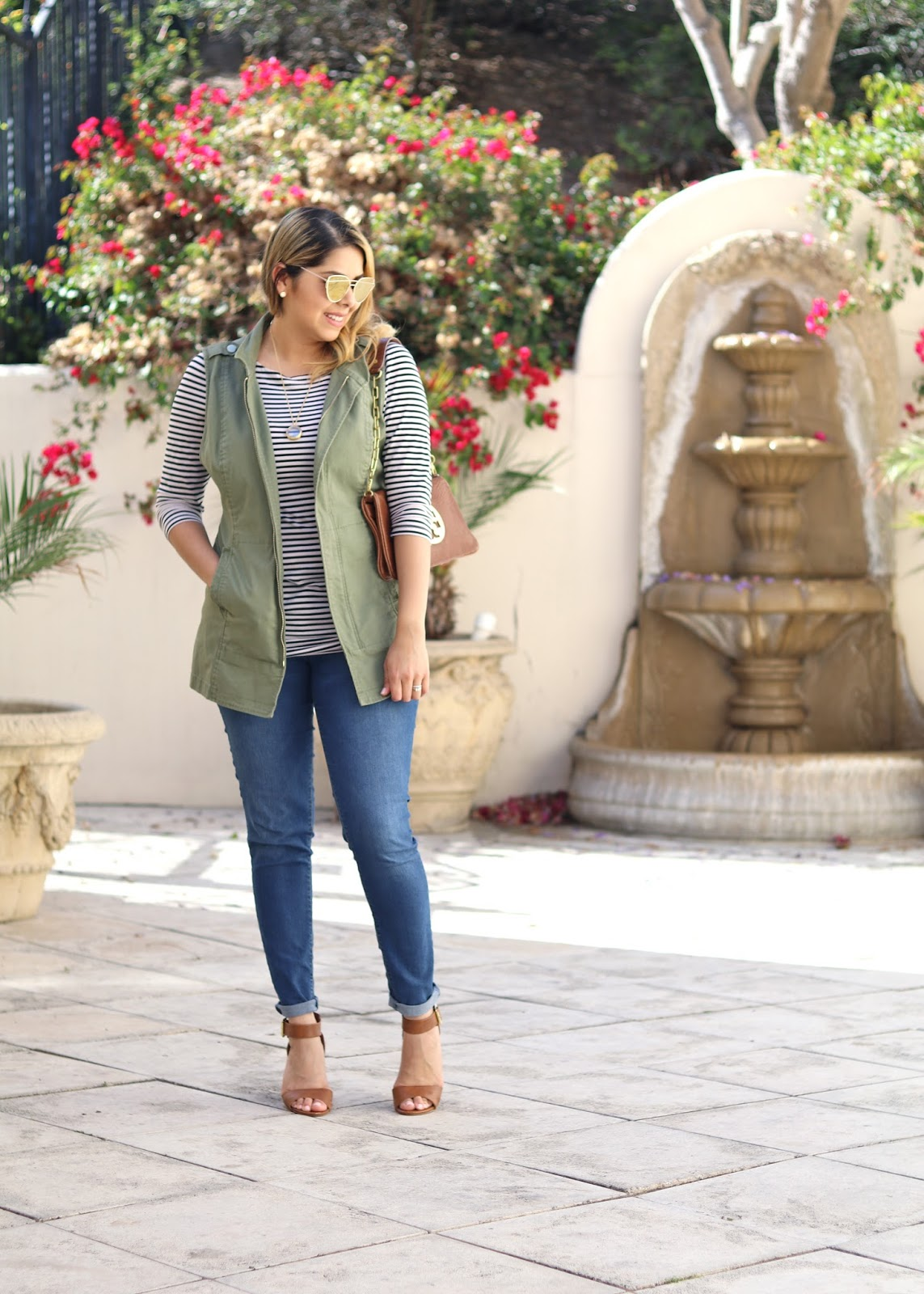 SPring 2016 outfit idea, vest outfit idea, socal fashion, california fashion blogger