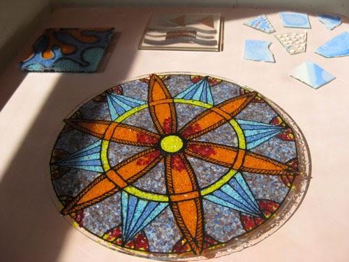 Calyx Glass Blog: Frit Mandalas Using Glassline and No ...