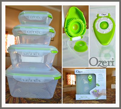 Ozeri Instavac Green Earth Food Storage Container Set Bpa