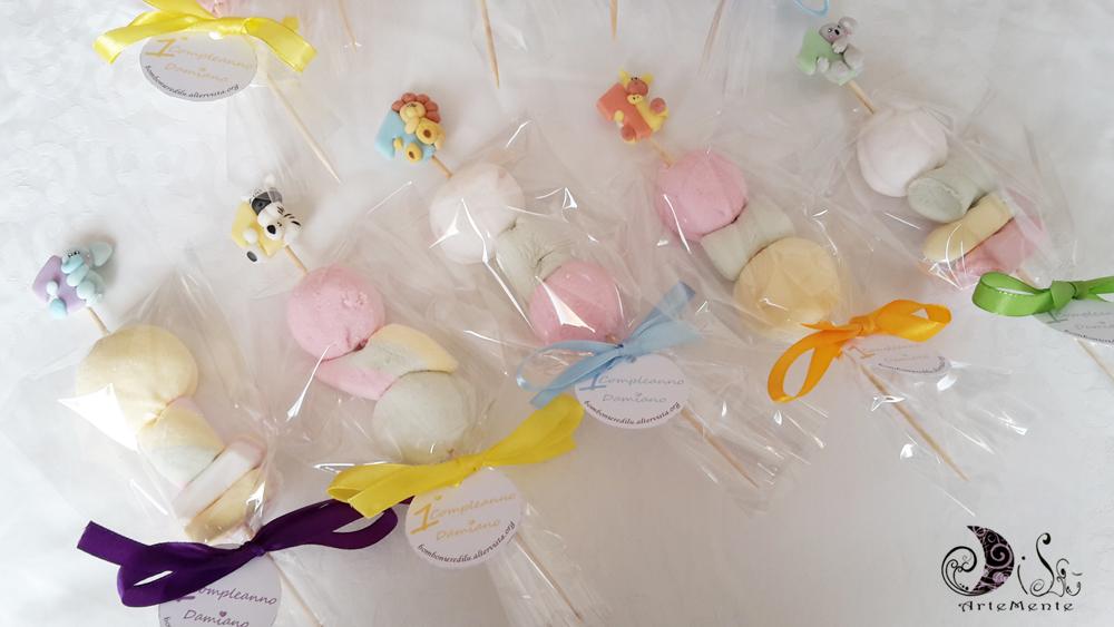 Favoloso DiLù Artemente: Spiedini di marshmallow primo compleanno WX18