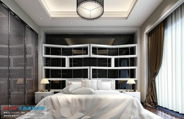 Thư viện 3D phòng ngủ hiện đại
