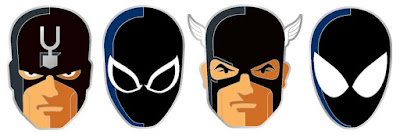 Marvel Black Series Portrait Enamel Pins by Tom Whalen & Mondo - Symbiote Spider-Man, Black Bolt, Agent Venom & U.S.Agent