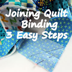 Joining Quilt Binding in 3 Easy Steps : joining quilt binding - Adamdwight.com
