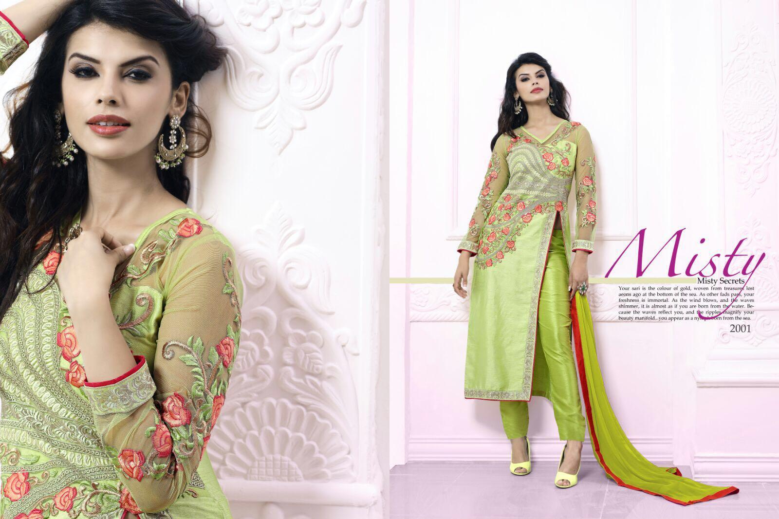 Tiara – Attractive Designer Georgette And Silk Salwar Suit