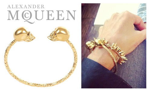 Got This Alexander Mcqueen Inspired Gold Skull Bracelet For 21 The Bangle 56 Is Available In And Silver It S Curly Sold Out But
