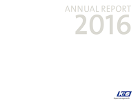 Front page of the annual 2016 report from K+S