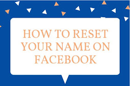 How to Reset Your Name on Facebook