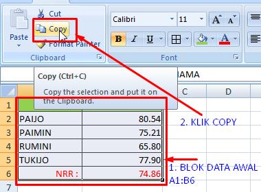 Cara Merubah Format Data Vertikal ke Horizontal