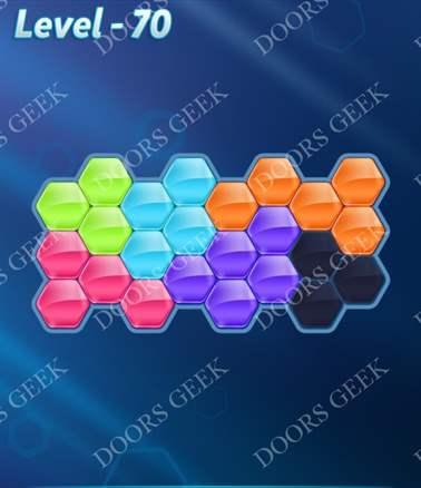 Block! Hexa Puzzle [Intermediate] Level 70 Solution, Cheats, Walkthrough for android, iphone, ipad, ipod