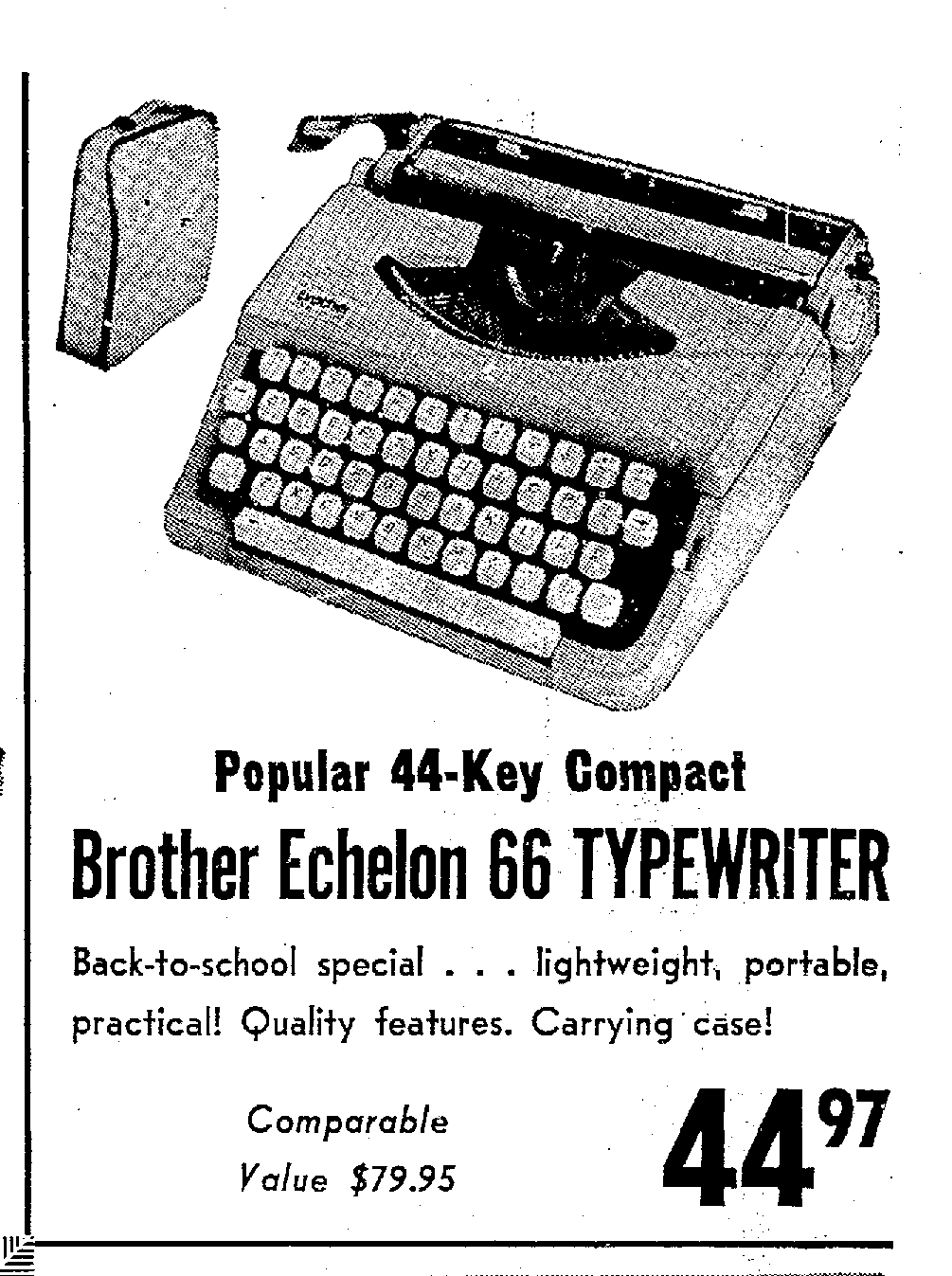 Seattle-Firs Typewriter: 1966 Brother Echelon 66