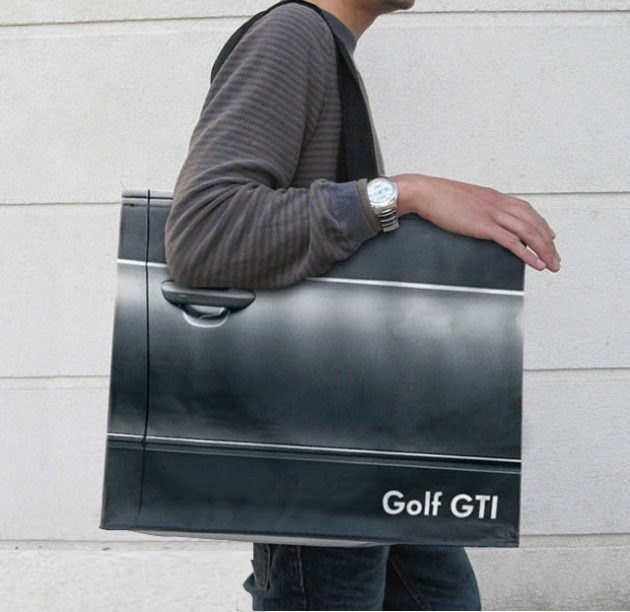 Bagvertising creativo, Golf GTI