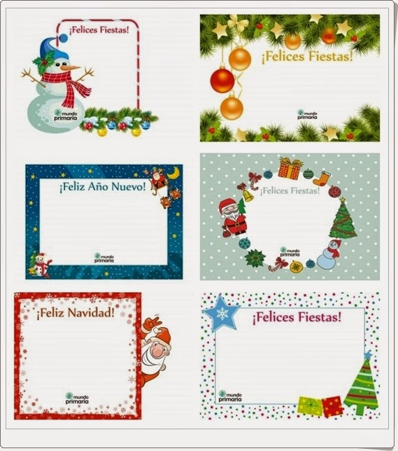 """""""Postales de Navidad"""" (Lengua Española de Infantil y Primaria)"""