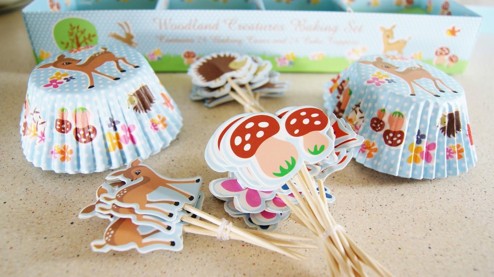 Woodland Animals Cupcake Cases