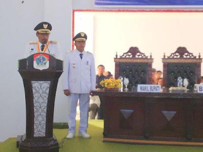 Bupati Boltim, Sehan Salim Landjar, didampingi Wabup Rusdi Gumalangit,