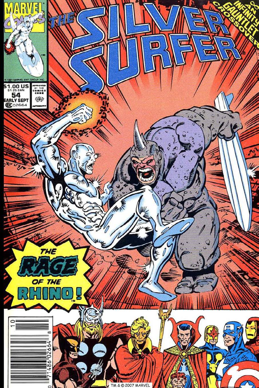 Read online Silver Surfer (1987) comic -  Issue #54 - 1