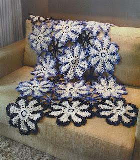 flores de crochê barroco