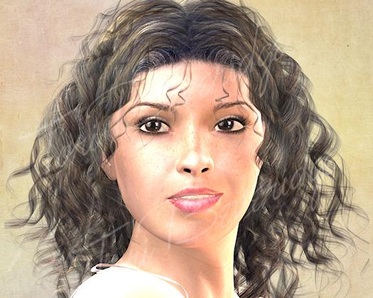 Portrait of Beth WIP Add Background TB