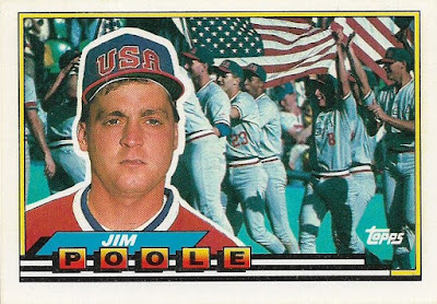 Night Owl Cards Ca 1989 Topps Big Baseball Jim Poole