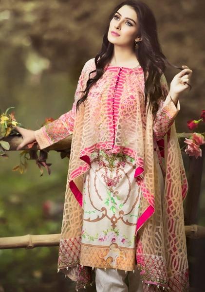 2edcd29a6d Zahra Ahmad Summer Collection 2016-2017   Summer Party Wear Lawn ...