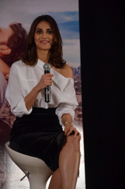 Actress Vaani Kapoor Long Legs Stills In White Dress