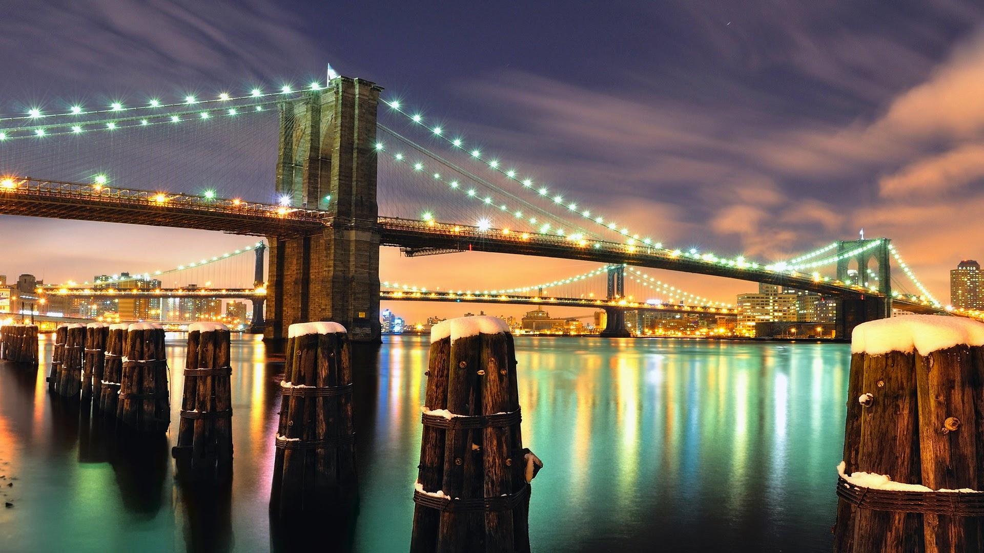 brooklyn bridge new york city full hd desktop wallpapers 1080p. Black Bedroom Furniture Sets. Home Design Ideas