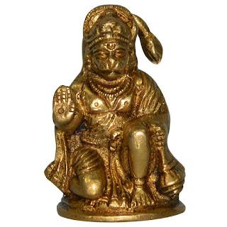 DronaCraft Tiny God Hanuman Brass Statue