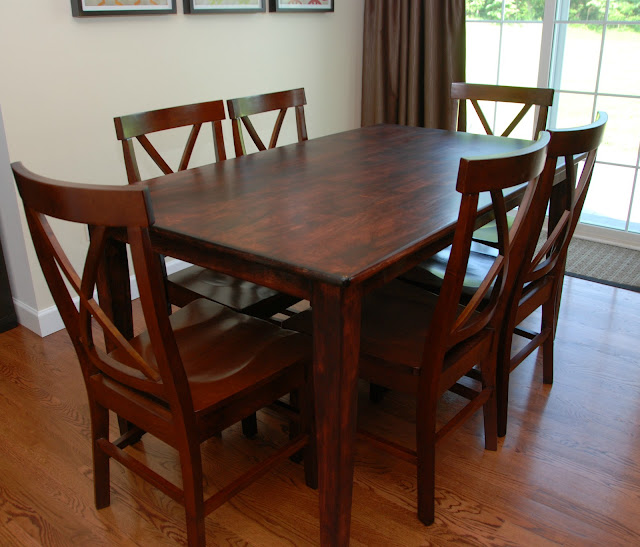 Kitchen Tabel: One Creative Housewife: Refinished Kitchen Table
