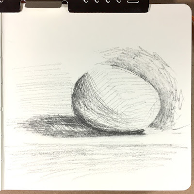 Daily Art 11-9-17 still life sketch in graphite