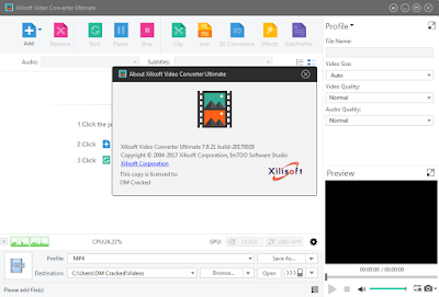 Screenshot Xilisoft Video Converter Ultimate 7.8.21 Build 20170920 Full Version
