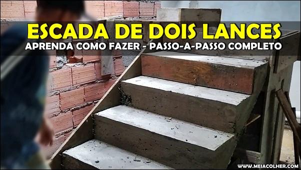 construção escada dois lances